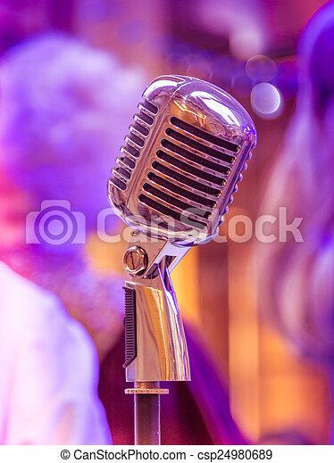 Retro microphone - csp24980689