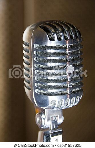 Retro microphone - csp31957625