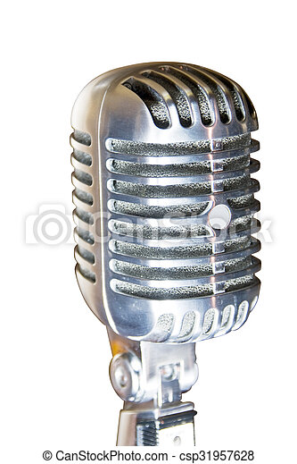 Retro microphone - csp31957628