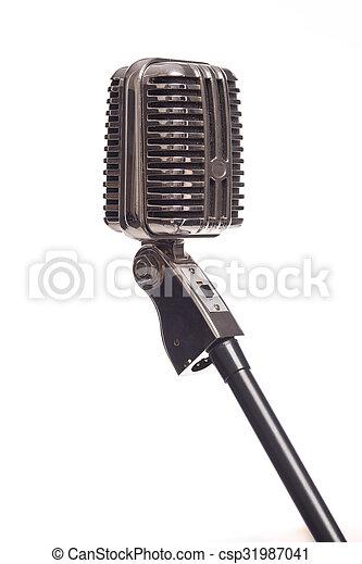 Retro microphone - csp31987041