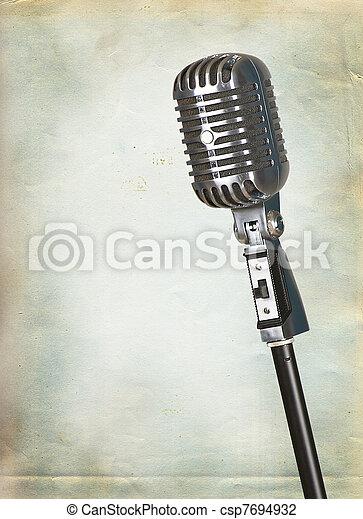 Retro microphone - csp7694932