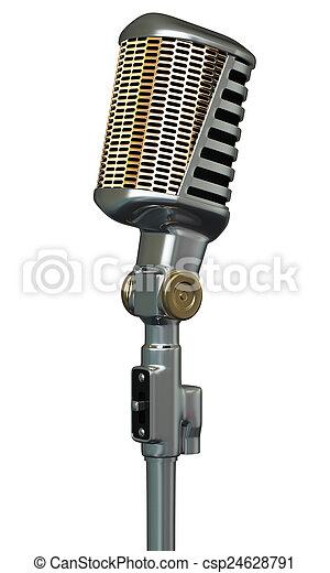 Retro microphone - csp24628791