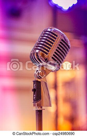 Retro microphone - csp24980690