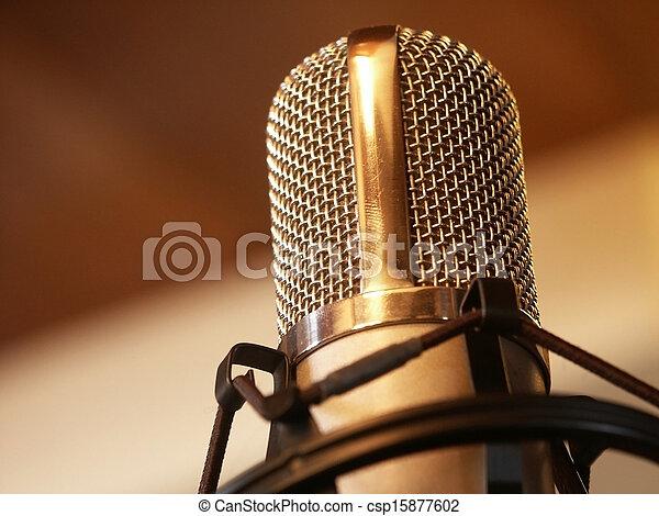 Retro Microphone - csp15877602