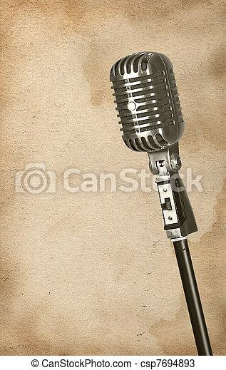 Retro microphone - csp7694893