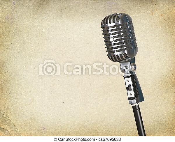 Retro microphone - csp7695633