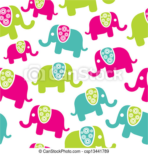 retro, model, seamless, elefant - csp13441789
