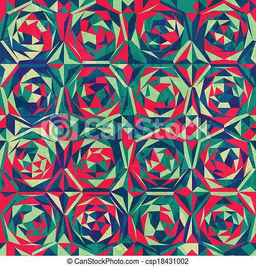 retro mosaic seamless pattern with gluss effect - csp18431002