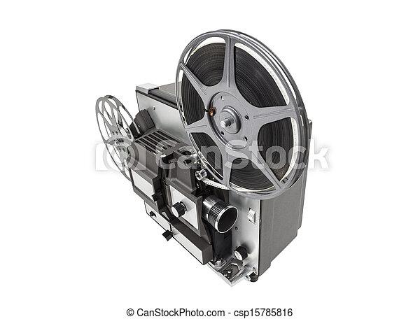 Retro Movie Projector Isolated - csp15785816