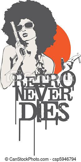 Retro Never Dies - csp5946794