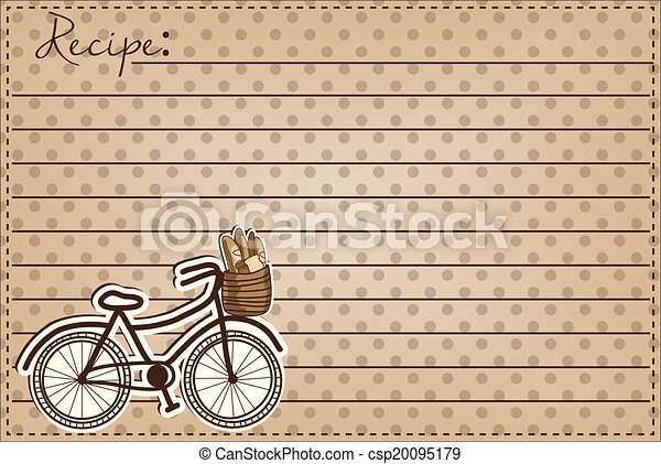 Retro or vintage bicycle with a basket full of bread - csp20095179