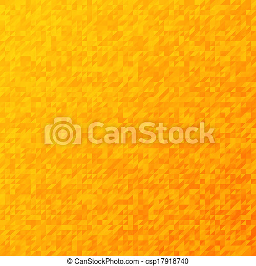 Retro orange mosaic vector pattern - csp17918740