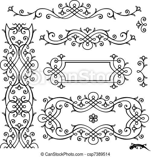 retro page decoration - csp7389514