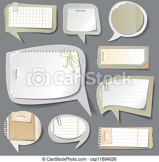 Retro paper bubbles speech  - csp11894026