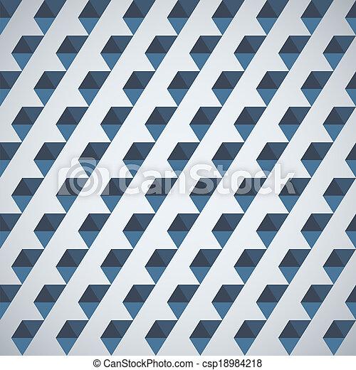 Retro pattern of geometric shapes half hexagon - csp18984218