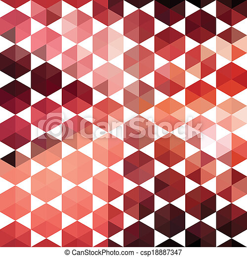 Retro pattern of geometric shapes hexagon - csp18887347