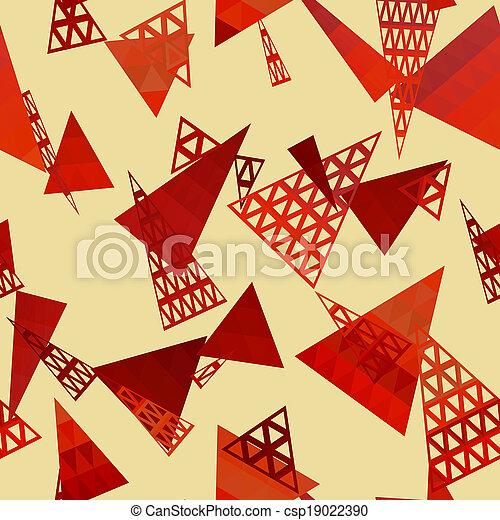 Retro pattern of geometric shapes - csp19022390