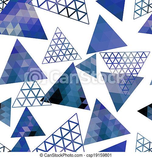 Retro pattern of geometric shapes triangles - csp19159801