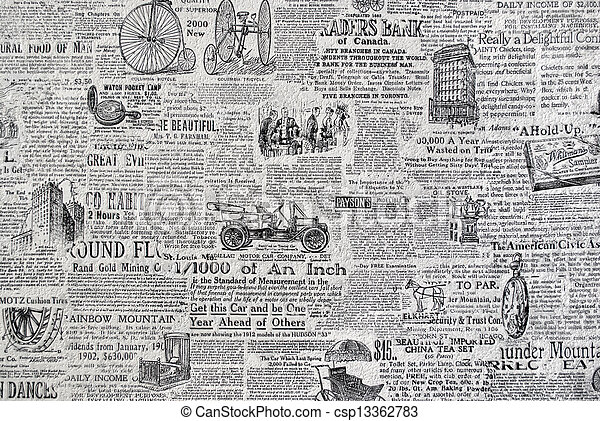 Retro Periódico Wallpaper Grunge Papel Textura Papel Retro