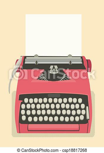 Trasfondo de la máquina de escribir - csp18817268