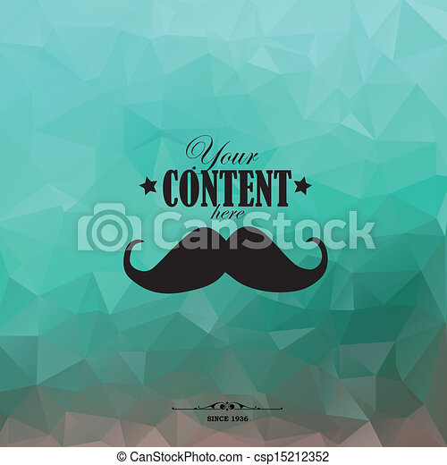 retro, polygones, mustache., fond, triangulaire - csp15212352
