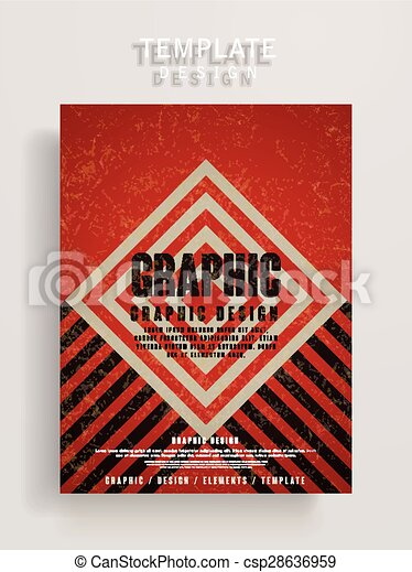 Retro poster template design with rhombus and stripe elements retro poster template design csp28636959 maxwellsz