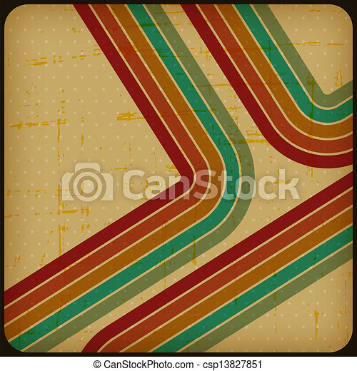 Retro poster with abstract grunge background. - csp13827851