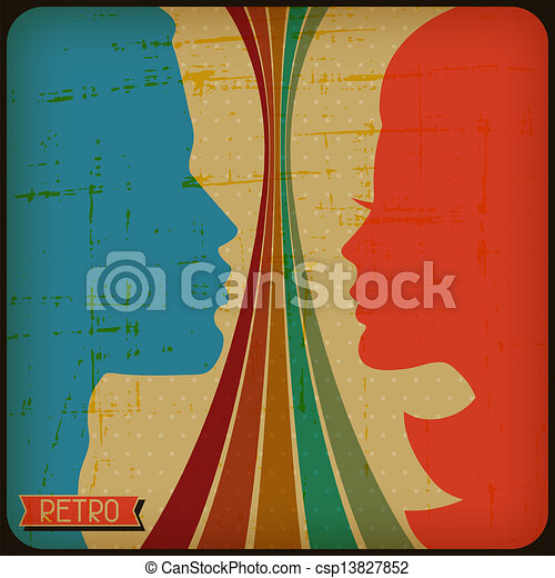 Retro poster with abstract grunge background. - csp13827852