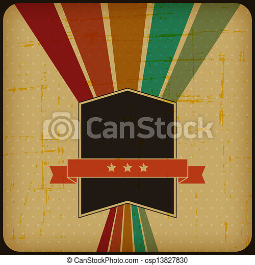 Retro poster with abstract grunge background. - csp13827830