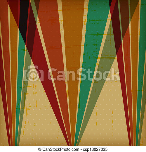 Retro poster with abstract grunge background. - csp13827835