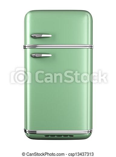 Retro refrigerator  - csp13437313
