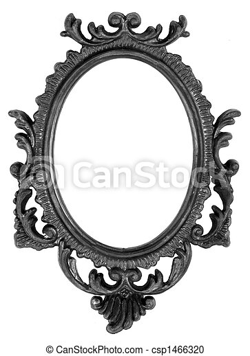 Retro Revival Old Ellipse Black Frame - csp1466320