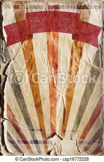 Retro revival sunbeam poster background in colour - csp16772228