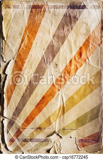 Retro revival sunbeam poster background in colour - csp16772245