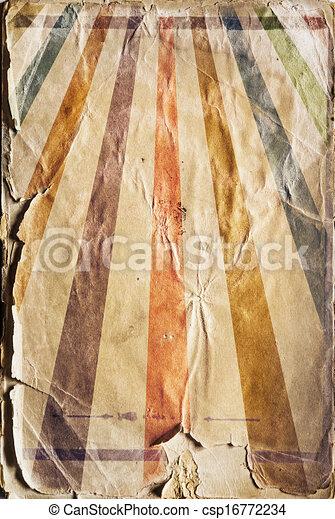 Retro revival sunbeam poster background in colour - csp16772234