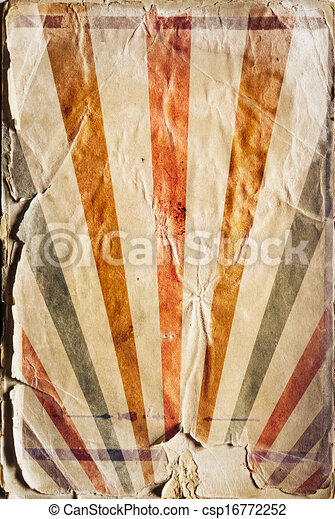 Retro revival sunbeam poster background in colour - csp16772252