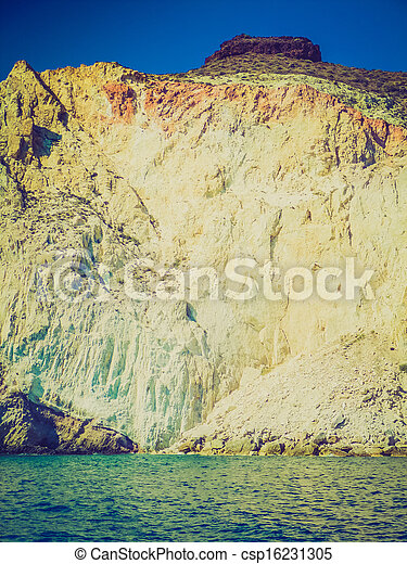 Santorini con aspecto retro - csp16231305
