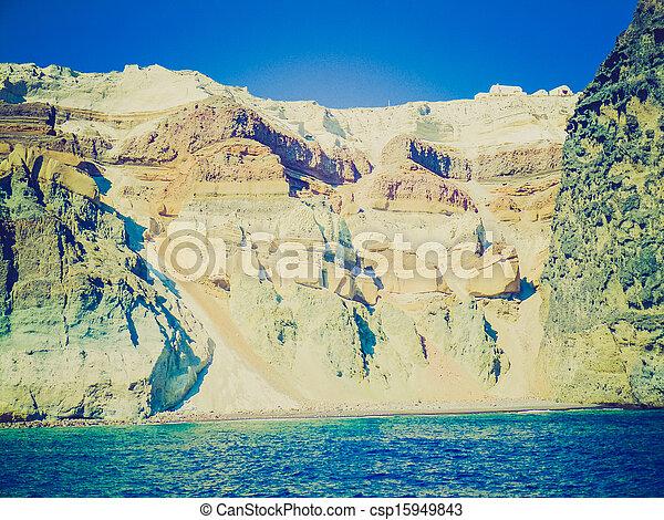 Santorini en Grecia retro look - csp15949843