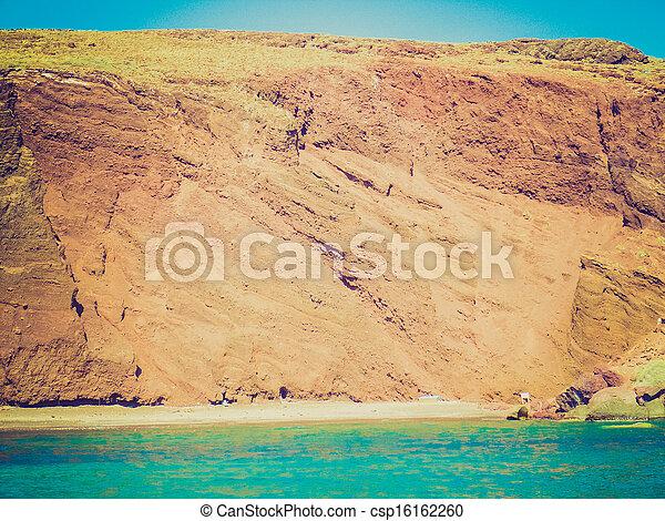 Santorini con aspecto retro - csp16162260