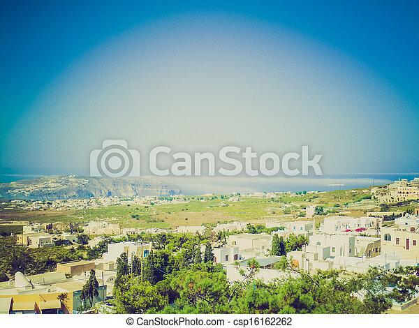 Santorini con aspecto retro - csp16162262