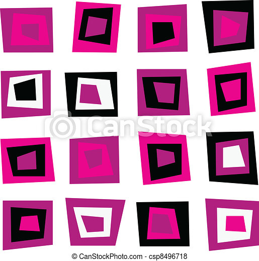 Retro seamless background or pattern with pink squares - csp8496718