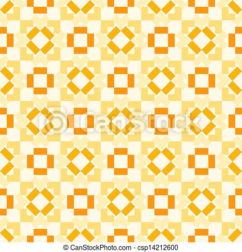 Retro seamless geometric orange vector pattern - csp14212600