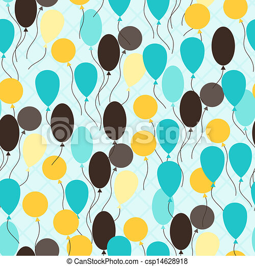Retro seamless pattern with ballons. - csp14628918
