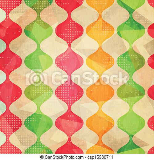 retro seamless pattern with grunge effect - csp15386711