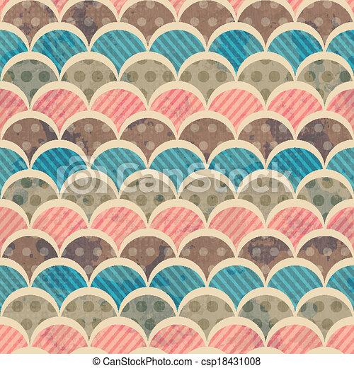 retro seamless pattern with grunge effect - csp18431008