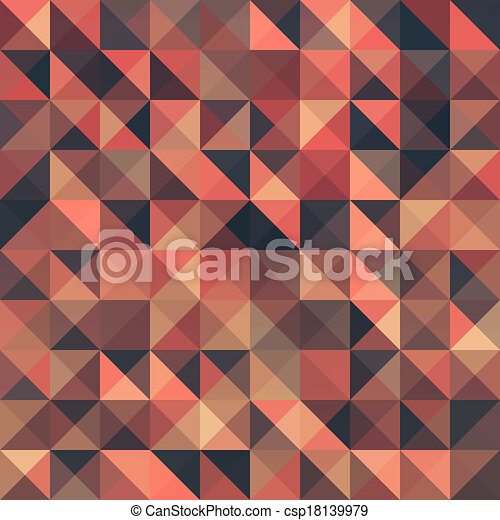 Retro seamless triangle abstract pattern. - csp18139979