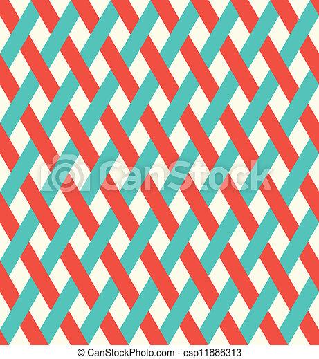 Retro seamless wicker pattern. - csp11886313