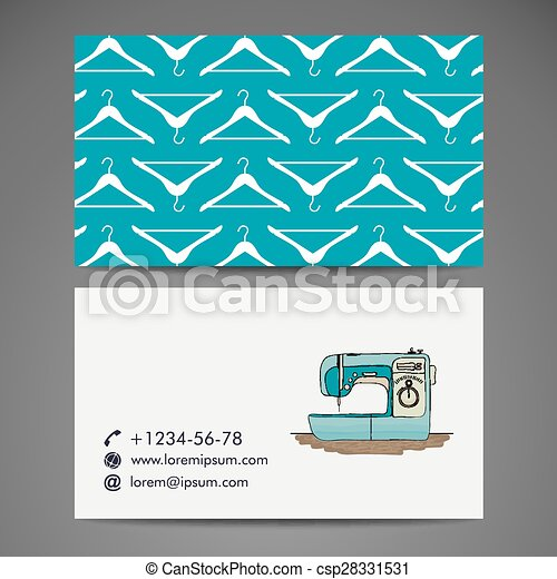Retro sewing machine, sketch for your design - csp28331531