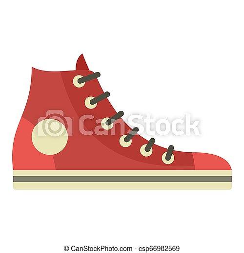 Retro sneaker icon, flat style - csp66982569