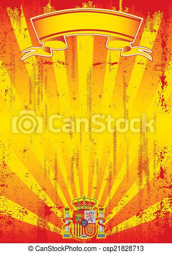 retro spanish sunbeams letter - csp21828713
